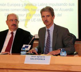 Carlos de Icaza, Subsecretario de RR.EE. de México, y José Ignacio Salafranca, eurodiputado