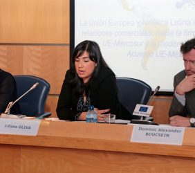 Emily Rees, Liliana Oliva y Dominic Boucsein