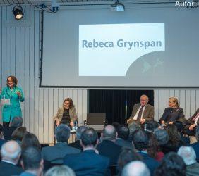 Intervención de Rebeca Grynspan, Secretaria General Iberoamericana [en atril].
