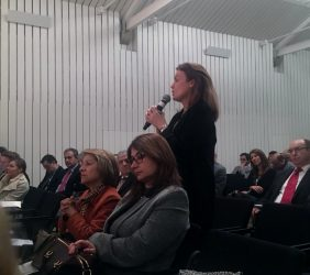Renata Dutra, Telefónica, en el coloquio