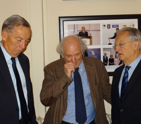 Carsten Moser, Carlos Malamud y Ángel Durández