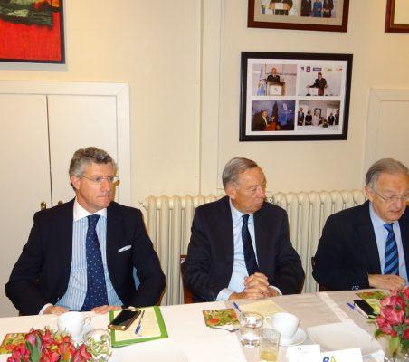 Claudio Vallejo, Carsten Moser y Ángel Durández