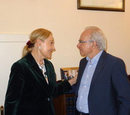 Benita Ferrero-Waldner y Almerino Furlan