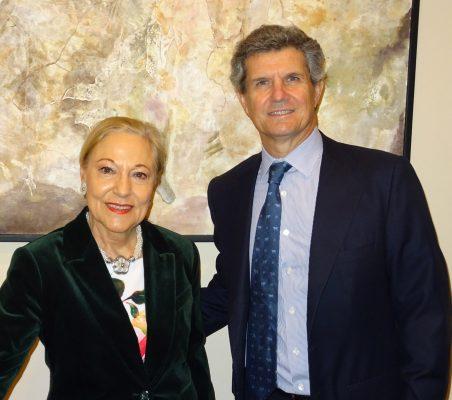 Benita Ferrero-Waldner y Francisco J. Riberas