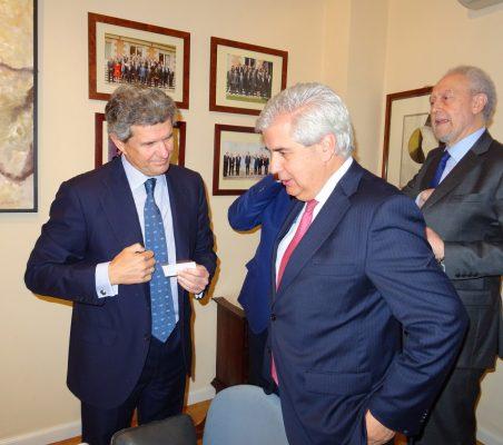 Francisco J. Riberas, Gonzalo Babé, y Carlos Romaní