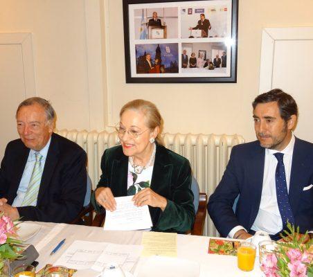 Carsten Moser, Benita Ferrero-Waldner y Luis Estades