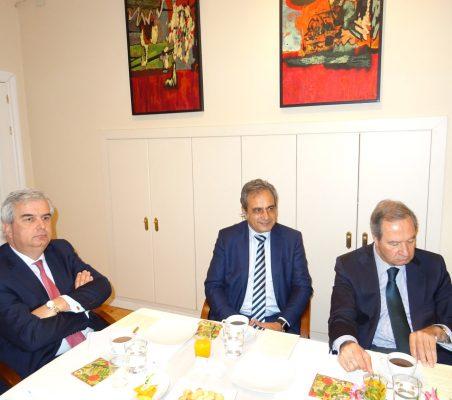 Gonzalo Babé, Luis Fernando Álvarez-Gascón y Ángel Galán
