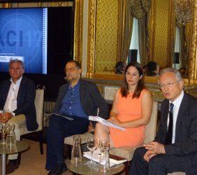 Primera mesa redonda: Jesús Prieto, Javier López Blanco, Mabel Klimt y Ángel Durández