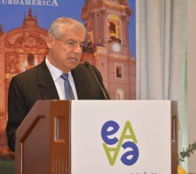 César Villanueva, Presidente del Consejo de Ministros del Perú, durante su intervención