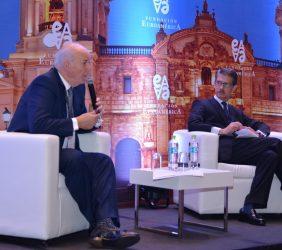 José Antonio García Belaunde, Embajador del Perú en España, y José Ignacio Salafranca, Diputado al Parlamento Europeo