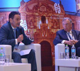 Piero Venturi, Jefe adjunto de la Unidad para las Américas, Comisión Europea, y Carsten Moser, Vicepresidente de la Fundación Euroamérica