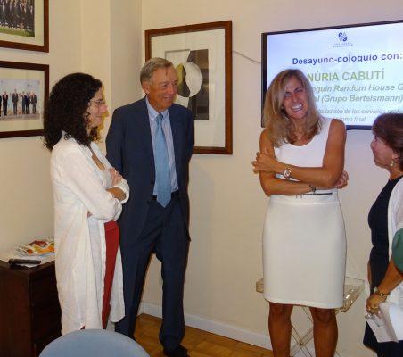 Carlota del Amo, Carsten Moser, Núria Cabutí y Luisa Peña