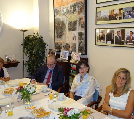 Luisa Peña, José María Beneyto, Victoria Eugenia Pauwels y Núria Cabutí