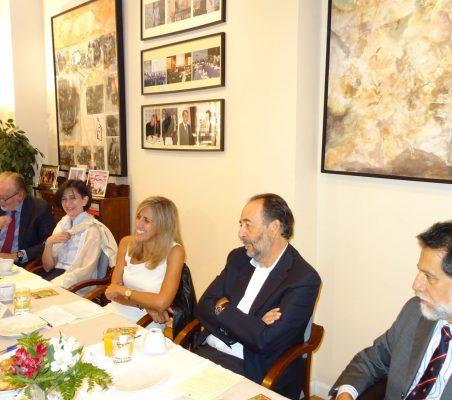 José María Beneyto, Victoria Eugenia Pauwels, Núria Cabutí, Carlos López Blanco y José Antonio Mendoza