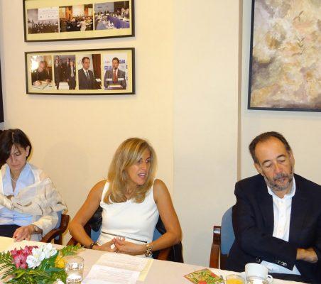Victoria Eugenia Pauwels, Núria Cabutí y Carlos López Blanco
