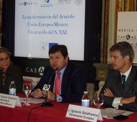 Inmaculada Rodríguez-Piñero, Eurodiputada; César Guerra Guerrero, Representante Secretaría Economía de México, y José Ignacio Salafranca, Eurodiputado
