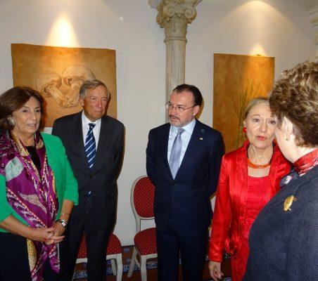 María Salvadora Ortiz, Carsten Moser, Luis Videgaray, Benita Ferrero-Waldner y Roberta Lajous