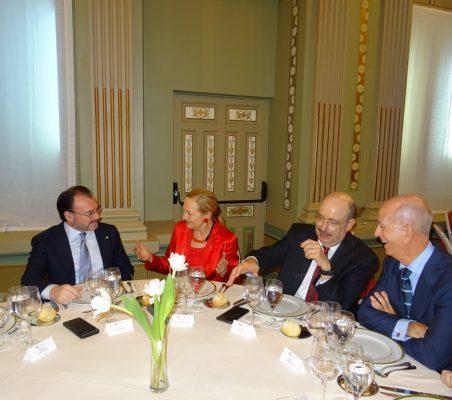 Luis Videgaray, Benita Ferrero-Waldner, Carlos de Icaza