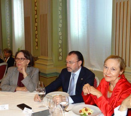Rebeca Grynspan, Luis Videgaray y Benita Ferrero-Waldner