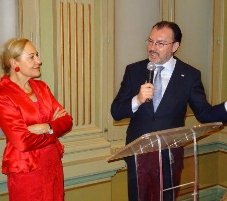 Benita Ferrero-Waldner y Luis Videgaray