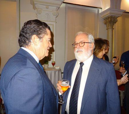 Borja Prado y Miguel Arias Cañete