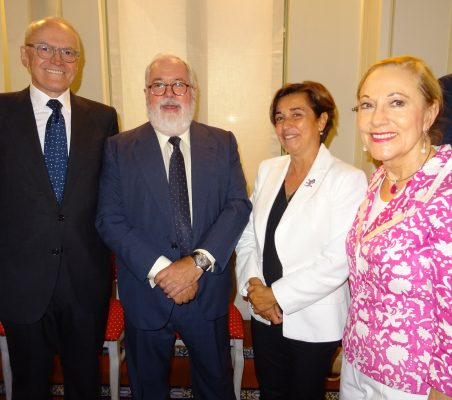 Julián Martínez-Simancas, Miguel Arias Cañete, Ángeles Santamaría, Benita Ferrero-Waldner