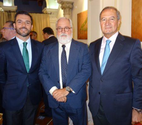 Antonio Cases, Miguel Arias Cañete y Ángel Galán