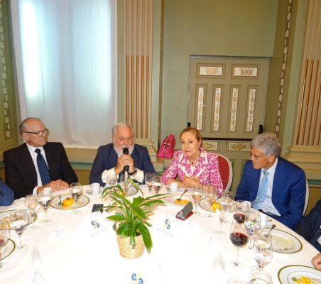 Julián Martínez-Simancas, Miguel Arias Cañete, Benita Ferrero-Waldner y Pablo de Carvajal