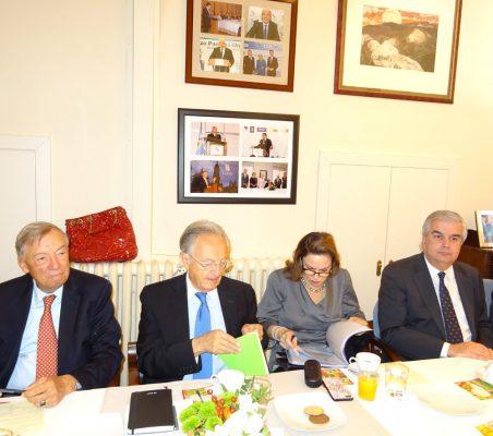 Carsten Moser, Ángel Durández, Ana Helena Chacón y Gonzalo Babé