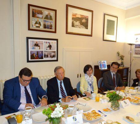 Óscar Díaz-Canel, Carsten Moser, Victoria Eugenia Pauwels, José Antonio Mendoza y Luisa Peña