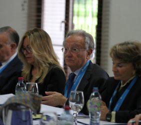 Valentín Diez Morodo, Trinidad Jiménez, Ángel Durández y Luisa Peña