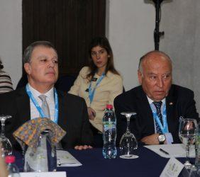 Alfonso Portabales, Embajador de España en Guatemala / Invitado a la reunión,  y Enrique García