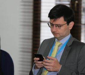 Giancarlo Leoncini, representando a CAF, Banco de Desarrollo de América Latina