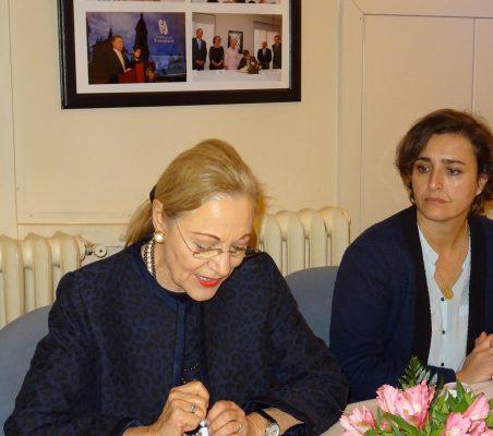 Benita Ferrero-Waldner y Natalia Moreno