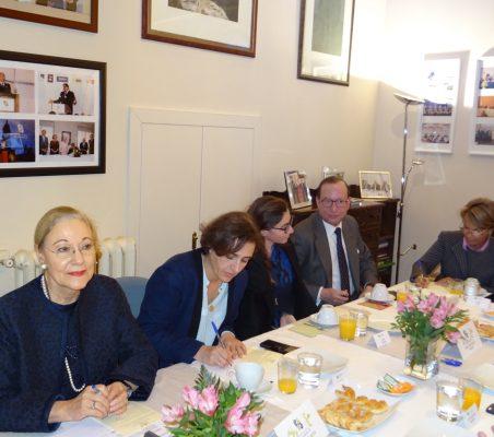 Benita Ferrero-Waldner, Natalia Moreno, María Abascal y Félix Losada y Luisa Peña