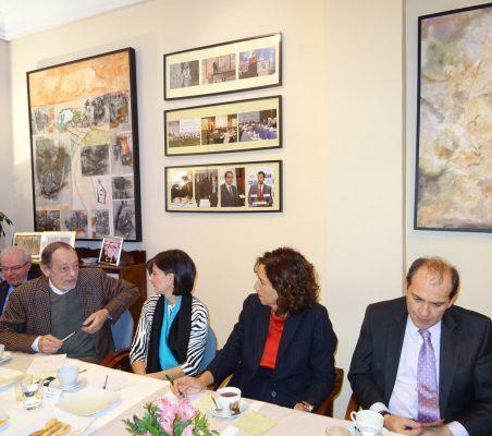 Almerino Furlán, Emilio Cassinello, Victoria Pauwels, Irene Lozano y Marco Aguayo