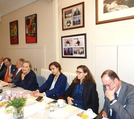 Eduardo Pérez del Solar, Borja Baselga, Ángel Durández, Benita Ferrero-Waldner, Natalia Moreno, María Abascal y Félix Losada