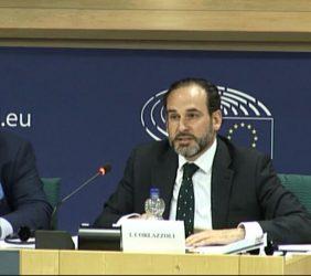Eduardo Navarro, de Telefónica, e Ignacio Corlazzoli, Representante del BID