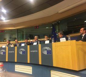 Pablo Bello, José Manuel González-Páramo, Pedro Less, Ramón Jáuregui, Carlos Moedas, Eduardo Navarro e Ignacio Corlazzoli