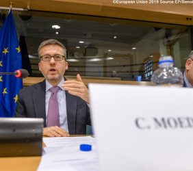 Carlos Moedas, Comisario Europeo de Investigación, Ciencia e Innovación en su intervención