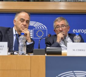 Javier Fernández y Mario Cimoli, Secretario General Adjunto de CEPAL
