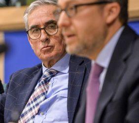 Ramón Jáuregui, Co-Presidente de EuroLat, y Carlos Moedas, Comisario Europeo de Investigación, Ciencia e Innovación