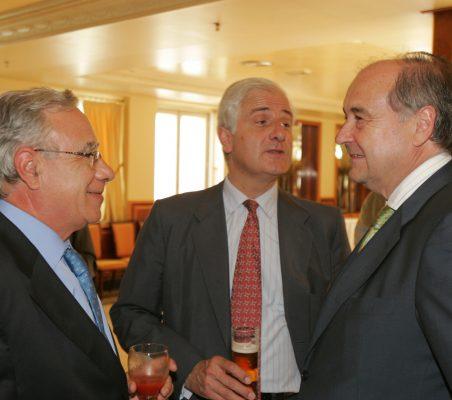 Ángel Bizcarrondo Alfonso Martínez de Irujo y Miguel Vergara