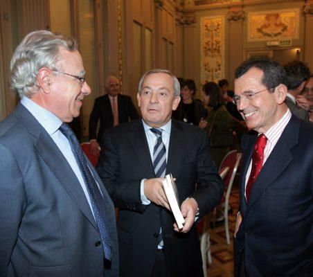 Ángel Bizcarrondo, Carlos Solchaga y Santiago Martínez Lage