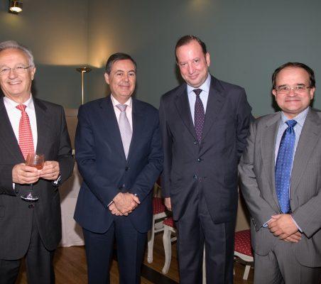 Ángel Durández, Juan Iranzo, Féliz Losada y Carlos Álvarez