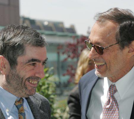 Antonio Muñoz Molina y Emilio Cassinello