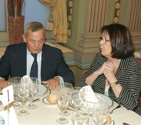 Carlos Solchaga y Rosa Conde