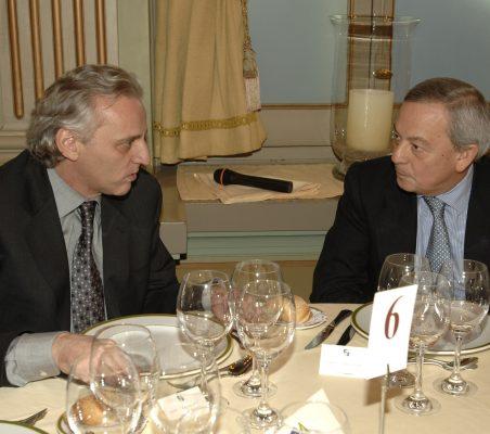 Alex Grijelmo y Carlos Solchaga
