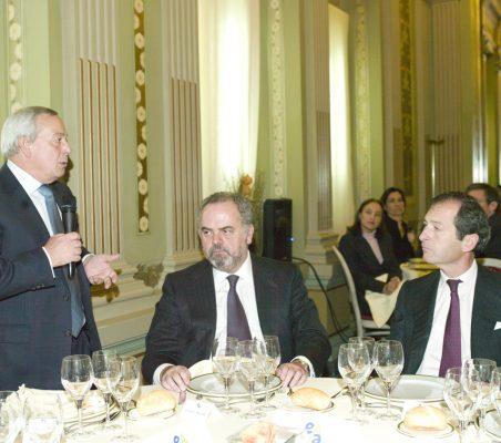 Carlos Solchaga, Ignacio Polanco y Borja Baselga