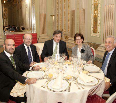 Jorge Leonardo, Fernando García Casas, Tomás Neisinger, Pilar Zugaza y Antonio Gracia,